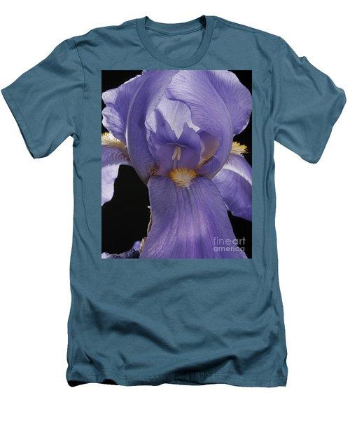 Purple Iris Men's T-Shirt (Slim Fit) by Art Whitton