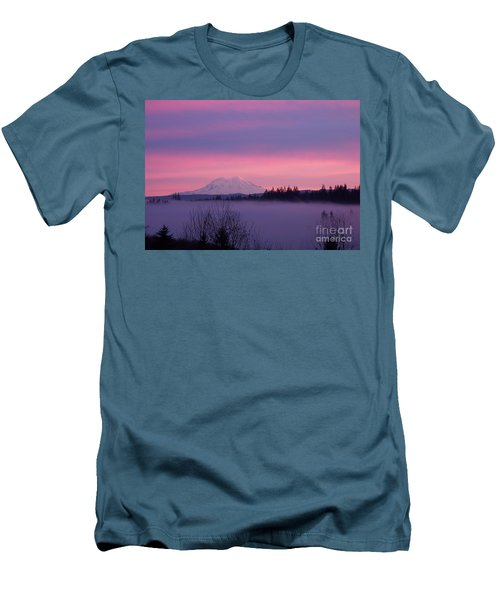 Men's T-Shirt (Slim Fit) featuring the photograph Purple Mountain Majesty by Chalet Roome-Rigdon