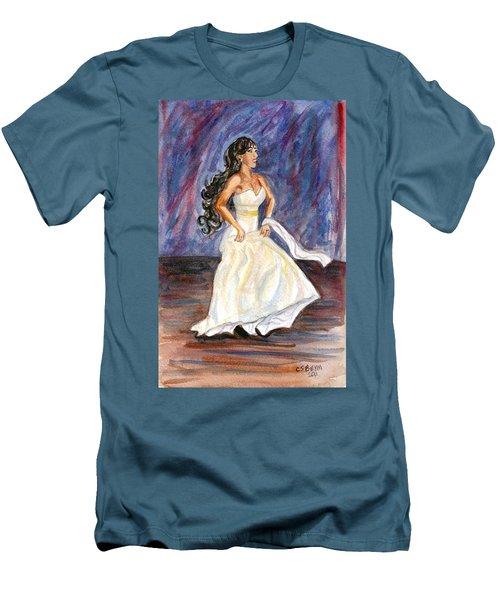 Men's T-Shirt (Slim Fit) featuring the painting Rachel by Clara Sue Beym