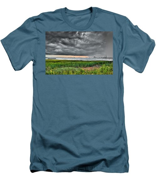 Rain Rolling In On The River Men's T-Shirt (Athletic Fit)