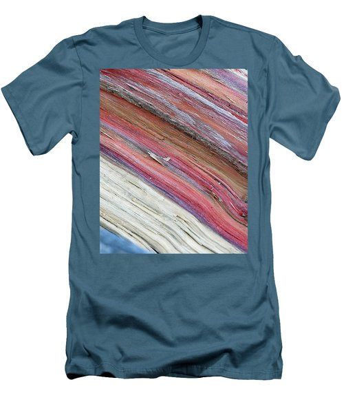 Men's T-Shirt (Slim Fit) featuring the photograph Rainbow Wood by Lisa Phillips