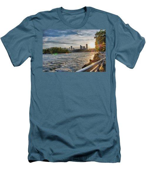 Men's T-Shirt (Slim Fit) featuring the photograph Rapids Sunset by Michael Frank Jr