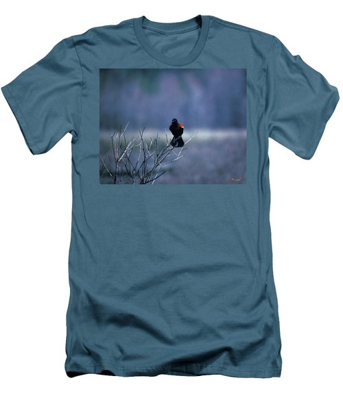 Men's T-Shirt (Slim Fit) featuring the photograph Red-wings Morning Call 10o by Gerry Gantt