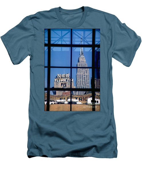 Reflection Empire State Building Men's T-Shirt (Slim Fit) by Mark Gilman