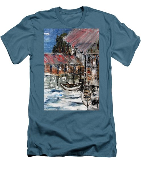 Men's T-Shirt (Slim Fit) featuring the painting Resting by Evelina Popilian