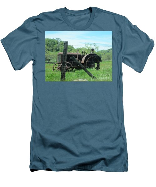 Men's T-Shirt (Slim Fit) featuring the photograph Retired by Laurianna Taylor