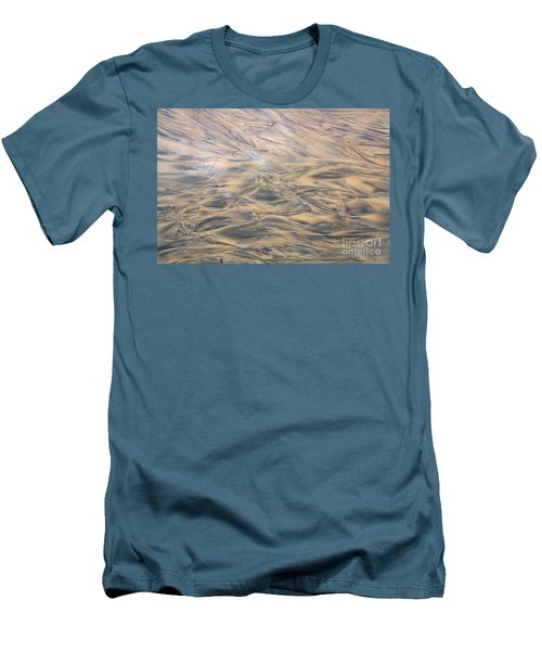 Men's T-Shirt (Slim Fit) featuring the photograph Sand Patterns by Nareeta Martin