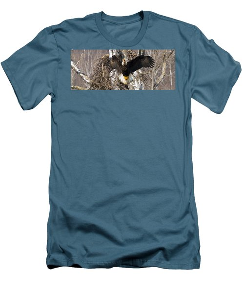 Men's T-Shirt (Slim Fit) featuring the photograph Screaming Eagle  by Randall Branham