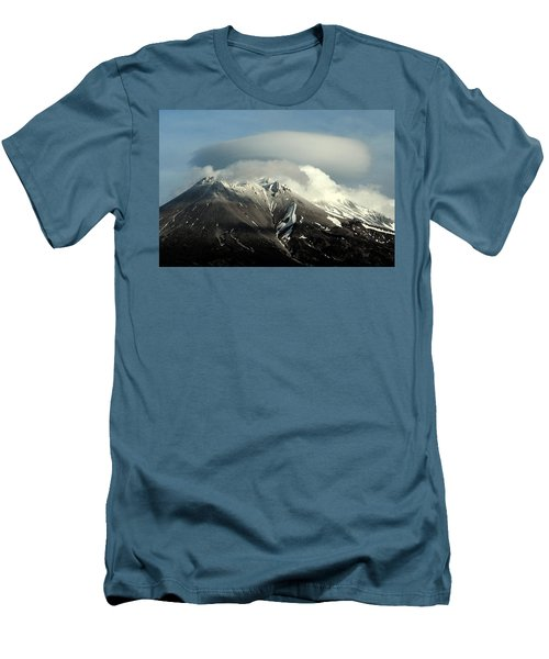 Men's T-Shirt (Slim Fit) featuring the digital art Shasta Lenticular 2 by Holly Ethan