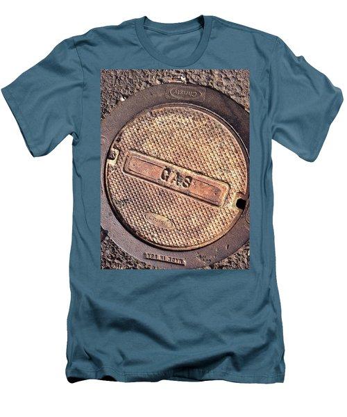 Sidewalk Gas Cover Men's T-Shirt (Slim Fit) by Bill Owen