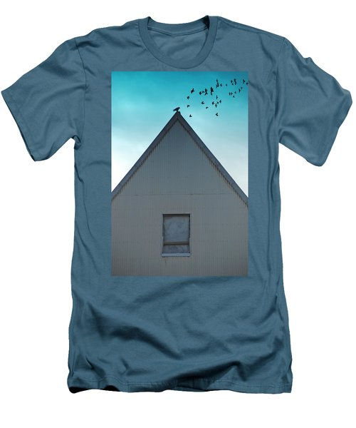 Men's T-Shirt (Slim Fit) featuring the photograph Sitting On The Peak by Kathleen Grace
