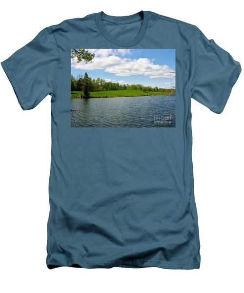 Men's T-Shirt (Slim Fit) featuring the photograph Sky And Water Almost Meet by Sherman Perry