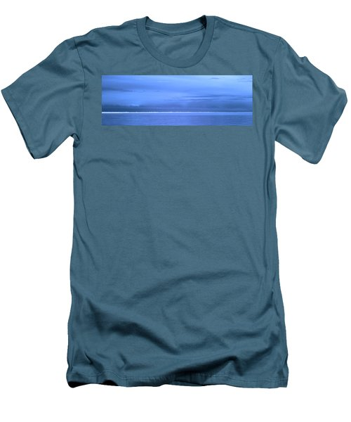 Men's T-Shirt (Slim Fit) featuring the photograph Skyline Salton Sea by Hugh Smith