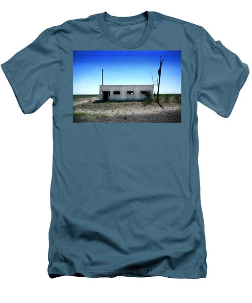 Men's T-Shirt (Slim Fit) featuring the photograph Somewhere On The Old Pecos Highway Number 1 by Lon Casler Bixby