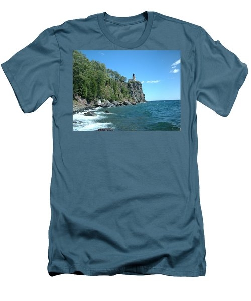 Men's T-Shirt (Slim Fit) featuring the photograph Split Rock by Bonfire Photography