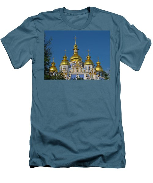 Men's T-Shirt (Slim Fit) featuring the photograph St. Michael's Cathedral by David Gleeson