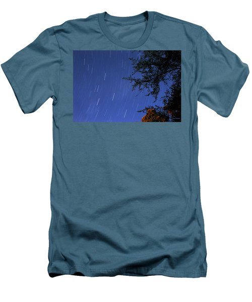 Men's T-Shirt (Slim Fit) featuring the photograph Stars Falling by Kay Lovingood