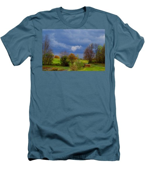 Men's T-Shirt (Slim Fit) featuring the photograph Storm Cell by Kathryn Meyer