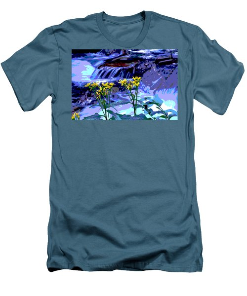 Stream And Flowers Men's T-Shirt (Athletic Fit)