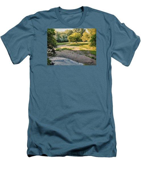 Summer Evening Along The Creek Men's T-Shirt (Slim Fit) by Bruce Morrison