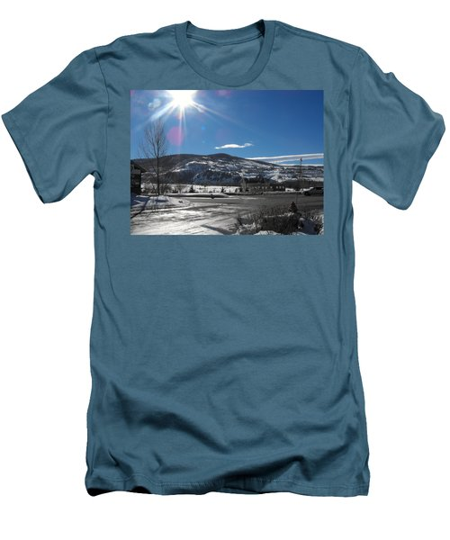 Sun On Ice Men's T-Shirt (Athletic Fit)