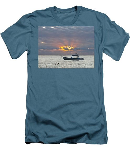 Sunrise - Puerto Morelos Men's T-Shirt (Slim Fit) by Sean Griffin