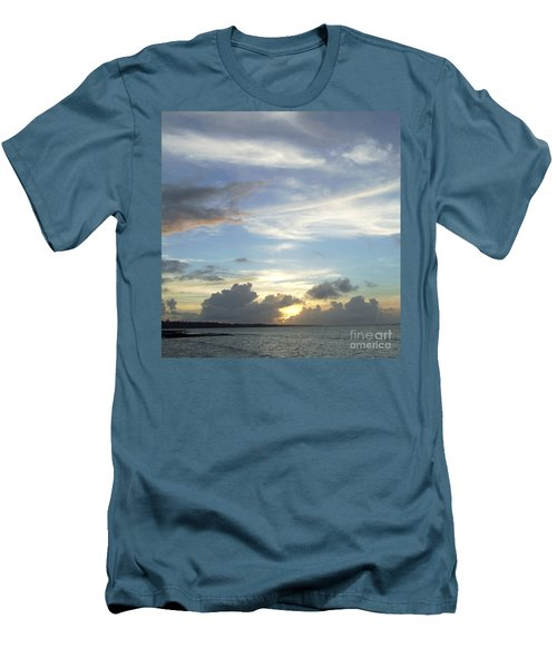 Men's T-Shirt (Slim Fit) featuring the photograph Sunset In Majuro by Andrea Anderegg