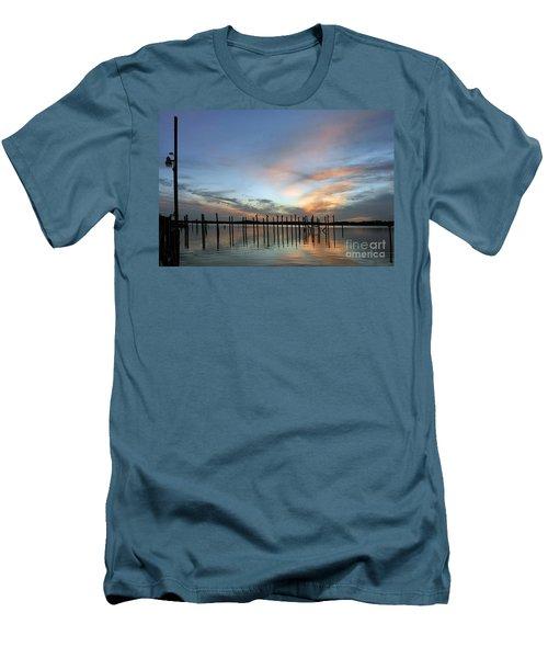 Men's T-Shirt (Slim Fit) featuring the photograph sunset marina Everglades by Dan Friend