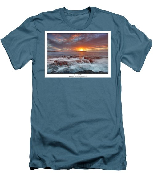 Sunset Tides - Cemlyn Men's T-Shirt (Slim Fit) by Beverly Cash