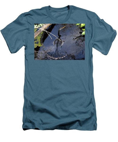 Swimming Bird Men's T-Shirt (Athletic Fit)