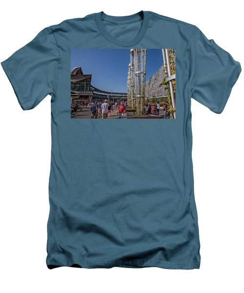 Men's T-Shirt (Slim Fit) featuring the photograph Target Plaza by Tom Gort