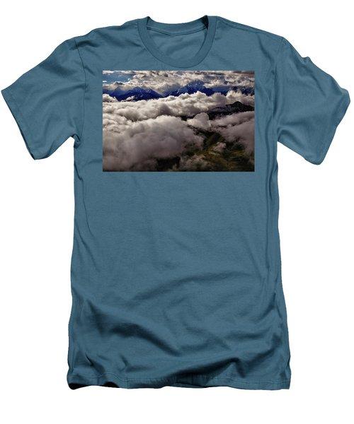 Ten Thousand Feet Over Denali Men's T-Shirt (Athletic Fit)