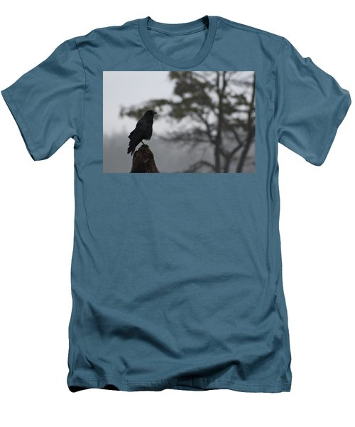 Men's T-Shirt (Slim Fit) featuring the photograph The Bachelor by Cathie Douglas