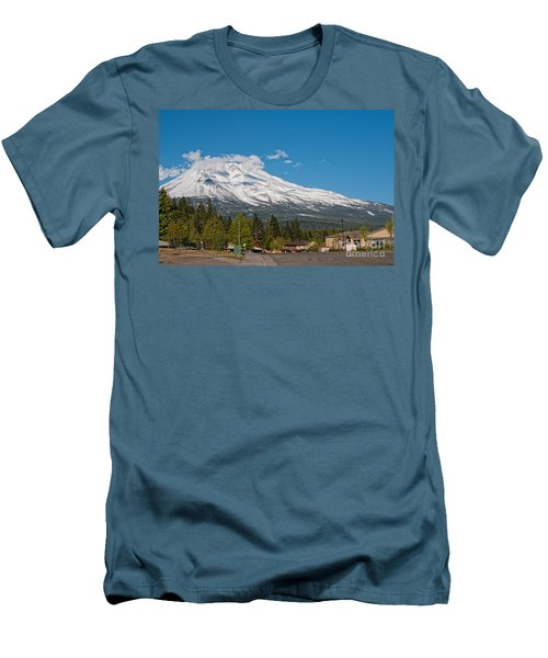 The Heart Of Mount Shasta Men's T-Shirt (Slim Fit) by Carol Ailles