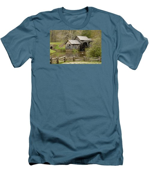 The Old Grist Mill Men's T-Shirt (Slim Fit) by Cindy Manero