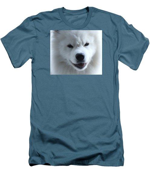 The Samoyed Men's T-Shirt (Slim Fit) by Lisa  DiFruscio