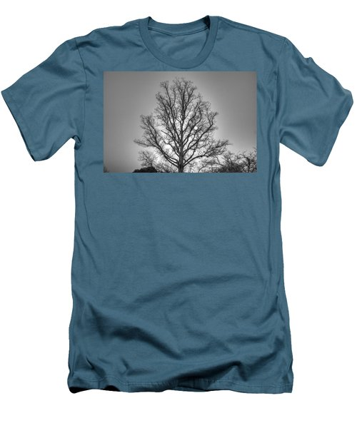 Through The Boughs Bw Men's T-Shirt (Slim Fit) by Dan Stone