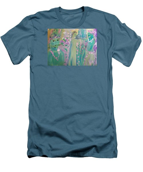 Topiary Easter Men's T-Shirt (Slim Fit) by Judith Desrosiers