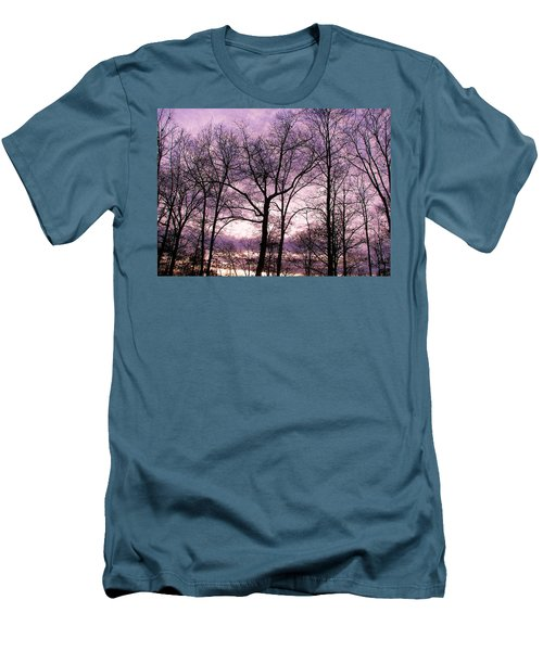 Men's T-Shirt (Slim Fit) featuring the photograph Trees In Glorious Calm by Pamela Hyde Wilson