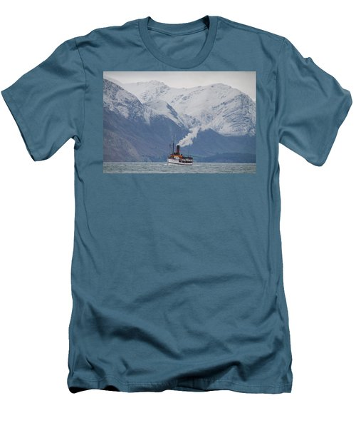 Tss Earnslaw Steamboat Against The Southern Alps Men's T-Shirt (Athletic Fit)