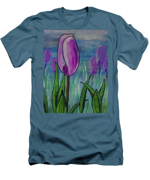 Tulips In The Mist Men's T-Shirt (Athletic Fit)