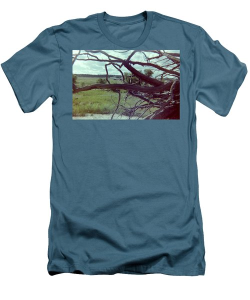 Men's T-Shirt (Slim Fit) featuring the photograph Uprooted by Bonfire Photography