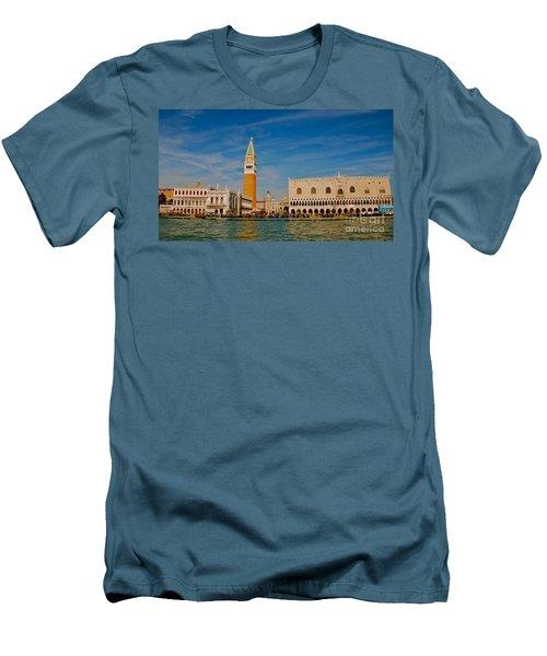 Men's T-Shirt (Slim Fit) featuring the photograph Venice's Front Door by Eric Tressler