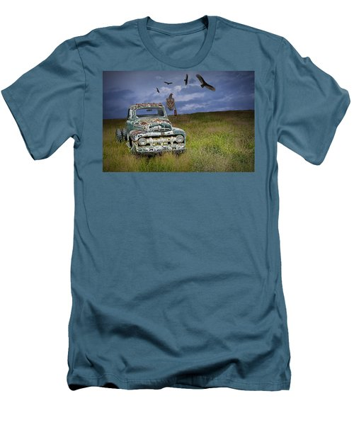 Vultures And The Abandoned Truck Men's T-Shirt (Athletic Fit)