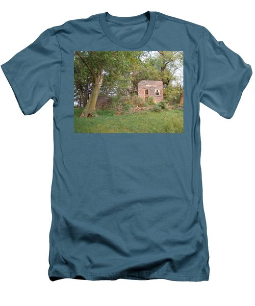 Men's T-Shirt (Slim Fit) featuring the photograph Walnut Grove School Ruins by Bonfire Photography