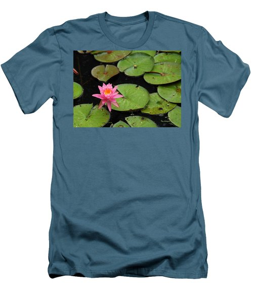 Men's T-Shirt (Slim Fit) featuring the photograph Water Lily by Kay Lovingood