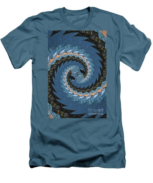 Men's T-Shirt (Slim Fit) featuring the photograph Wave Mosaic. by Clare Bambers