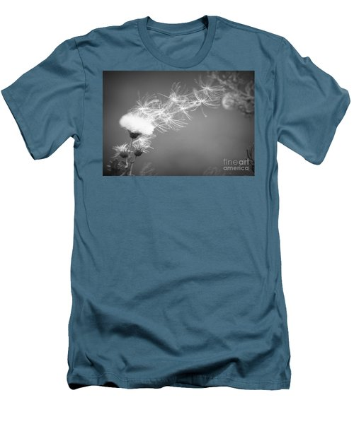 Men's T-Shirt (Slim Fit) featuring the photograph Weed In The Wind by Deniece Platt