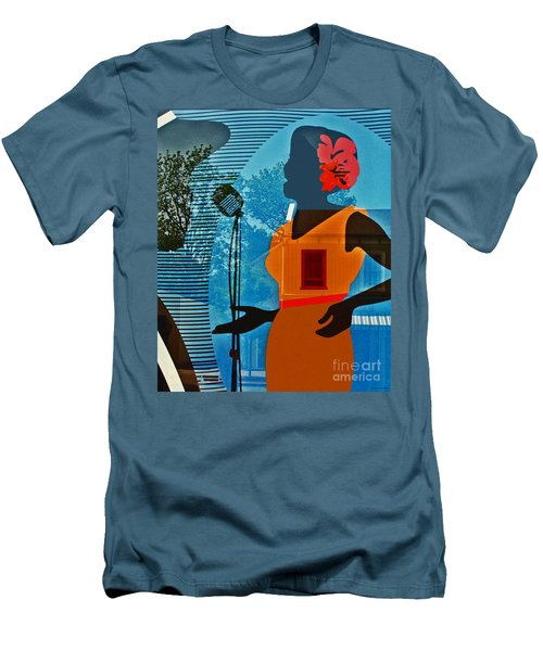 Men's T-Shirt (Slim Fit) featuring the photograph Window To My Soul by Barbara McMahon