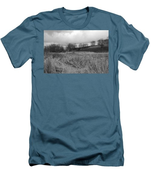 Men's T-Shirt (Slim Fit) featuring the photograph Winters Breeze by Kathleen Grace